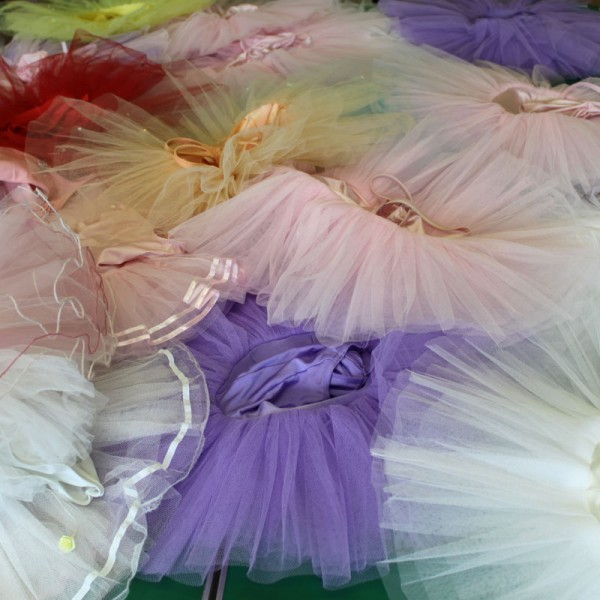 Colourful tutus at ballet shoot, Thompson Schools of ballet
