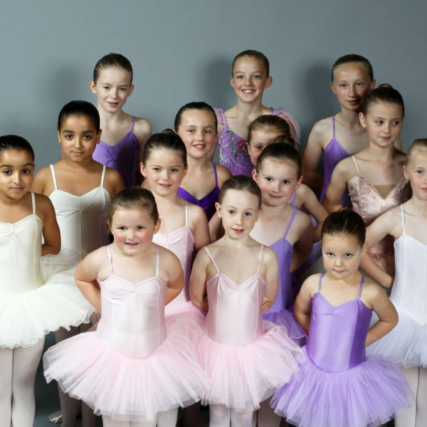 Younger children in ballet class, Thompson Schools of ballet classes, North Yorkshire